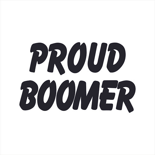 Decal Proud Boomer Decal Window Sticker