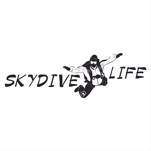 Skydive Life Parachute Sky Dive Skydiver Airplane Jump Decal Window Sticker