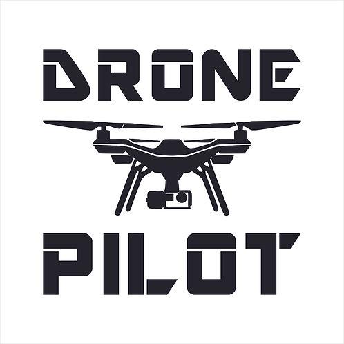 Drone UAV Drone Pilot Arial Camera Window Sticker