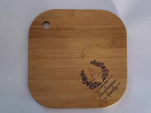 Cutting Board Bamboo Laser Engraved Personalized