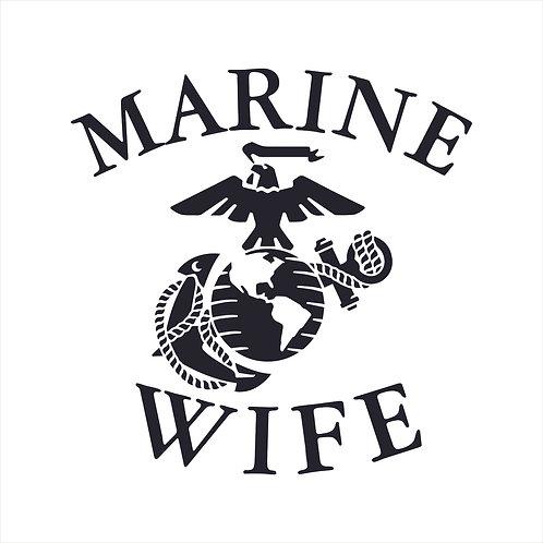 Marine Wife US Marine Corps Wife Vinyl Decal Window Sticker