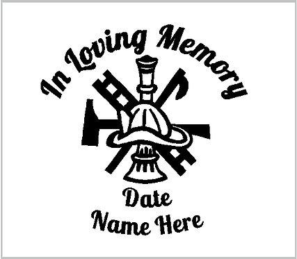 Memorial Fire Fighter First Responder Decal Sticker Decal Window Sticker