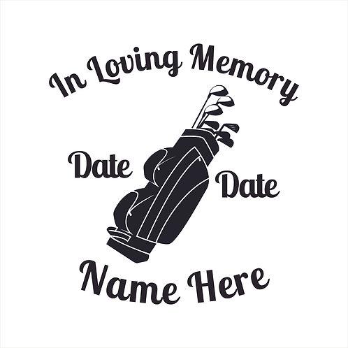 Memorial Decals Golf Golfer Golfing Memorial Decal Window Sticker