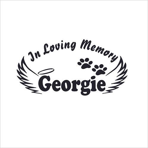 Memorial Pet Paw Paws Decal Vinyl Sticker Pet Memorial Decal Window Sticker