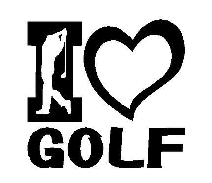 Golf Club Golfing Golfer Decal Vinyl Window Sticker
