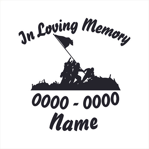 USMC Marine Corp Iwo Jima Memorial Vinyl Sticker