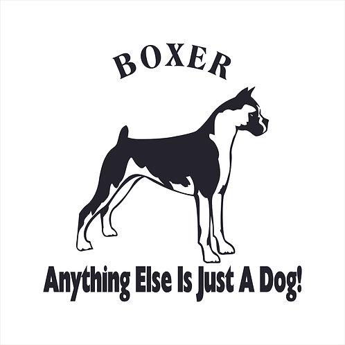 Boxer Dog Vinyl Decal Window Sticker