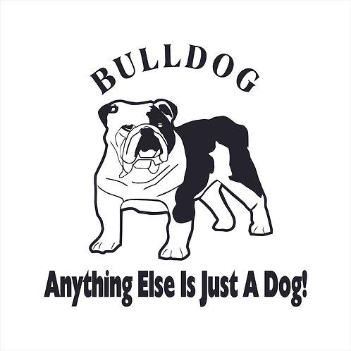 Bulldog Dog Vinyl Decal Window Sticker
