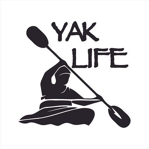 Kayak Kayaking Lake Paddle Vinyl Decal Window Sticker