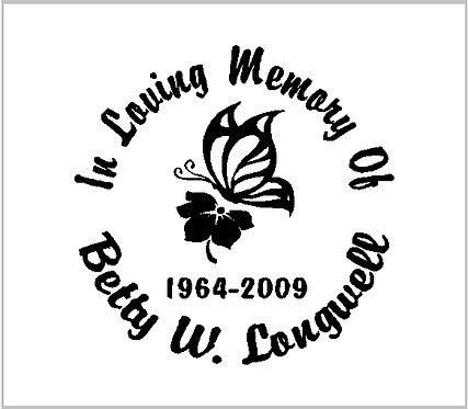 Memorial Decals Butterfly Hibiscus Memorial Decal Window Sticker