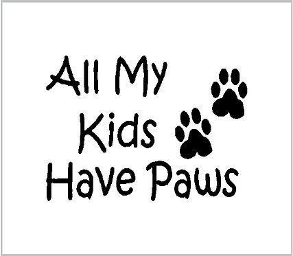 Dog Cat Pet Decal Sticker Cut Vinyl Car Window Decal Window Sticker