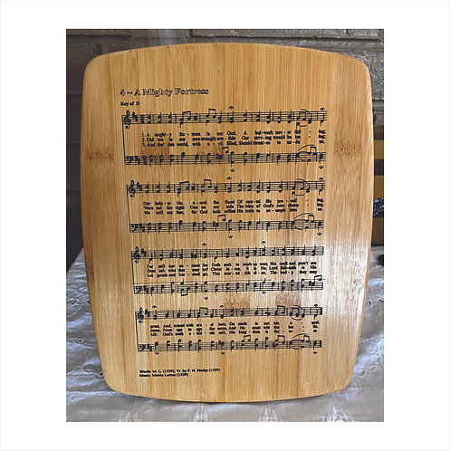 Hymn Laser Engraved in Bamboo