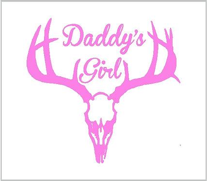 Daddy's Girl Deer Elk Moose Antlers Hunt Hunting Skull Decal Window Sticker