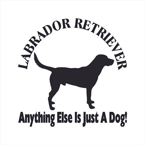 Labrador Retriever Dog Vinyl Decal Window Sticker
