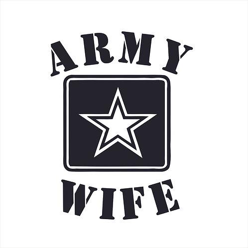 Army Wife Vinyl Decal Window Sticker