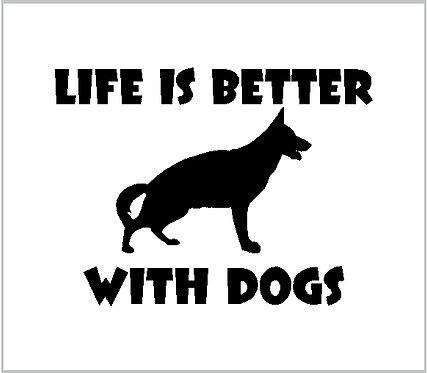 Dog Life Vinyl Decal Vinyl Sticker Dog Decal Window Sticker