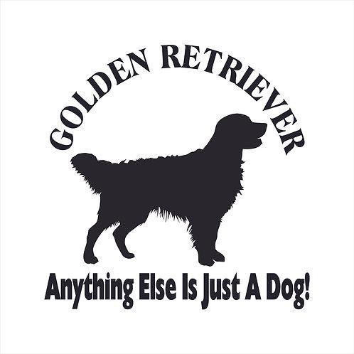 Golden Retriever Dog Vinyl Decal Window Sticker