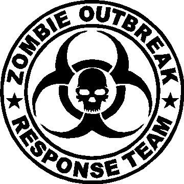 Zombie Decal  Zombie Response Team Window Sticker