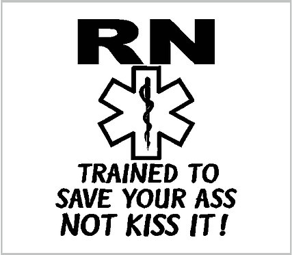 Nurse RN Nursing Medical Star of Life Decal Window Sticker