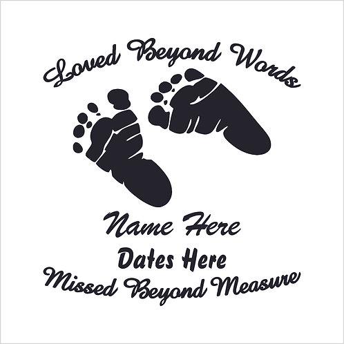 Memorial Decals Infant Child Memorial Decal Window Sticker