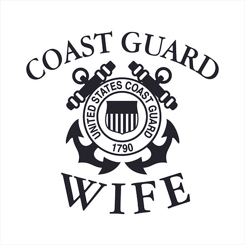 Coast Guard Wife US Coast Guard Wife Coastie Window Sticker