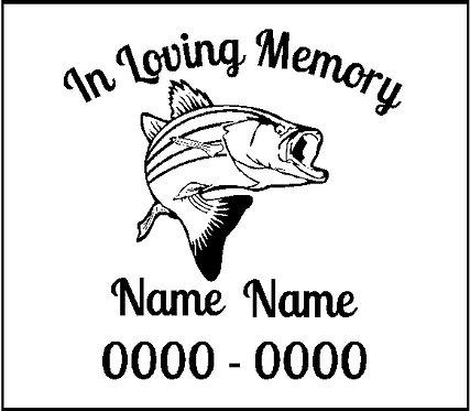 Memorial Decals Fish Fishing Memorial Decal Window Sticker