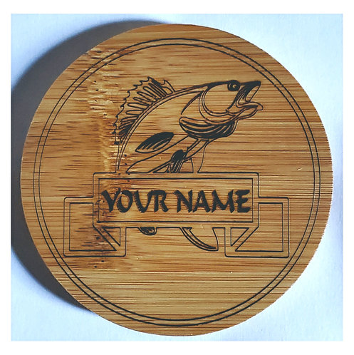 Coaster Set: Fish Personalized with Name