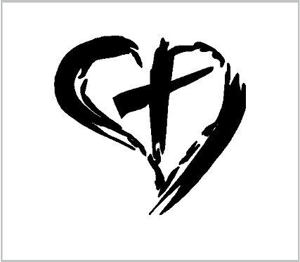 Cross Heart Love Believe Decal Window Sticker