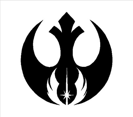 Star Wars Rebel Alliance Double Insignia Decal Window Sticker