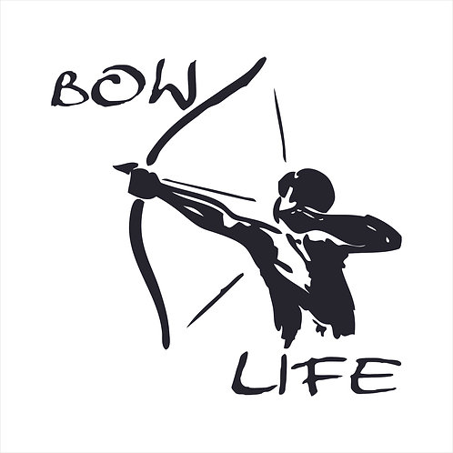 Bow Life Bow and Arrow Bow Hunting Vinyl Decal Window Sticker