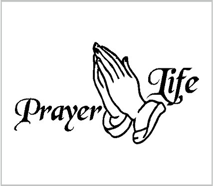 Pray Prayer God Jesus Decal Vinyl Window Sticker