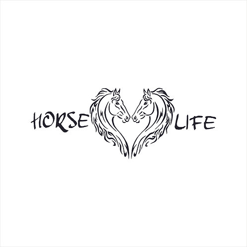 Horse Life Western Cowboy Cowgirl Country Horses Decal Window Sticker