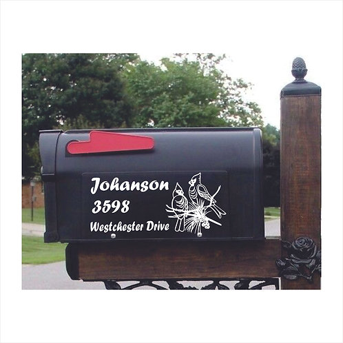Mail Box Decal Cardinals Personalized