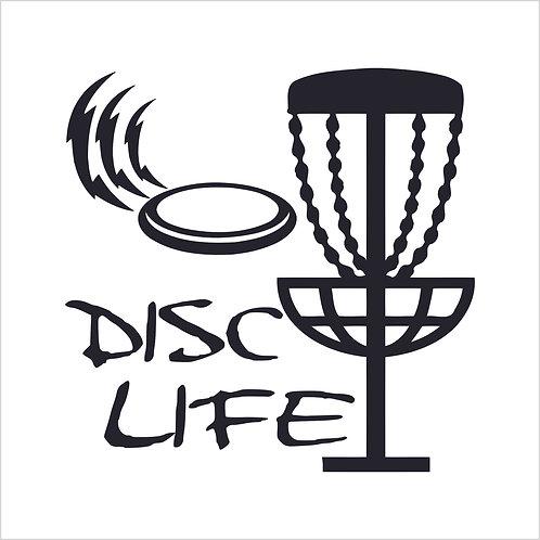 Disc Golf Golfing Golfer Golf Club Frisbee Salt Decal Window Sticker