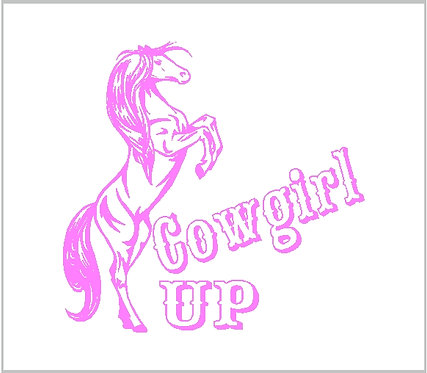 Cowgirl Up Horse Country Western Cowboy Vinyl Sticker Decal