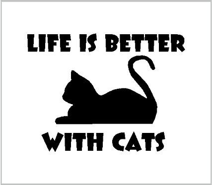 Cat Life Vinyl Decal Vinyl Sticker Cat Decal Window Sticker