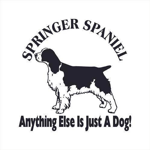 Springer Spaniel Dog Vinyl Decal Window Sticker
