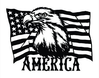 Patriotic American Flag Eagle Decal Window Sticker