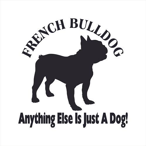 French Bulldog Frenchy Dog Vinyl Decal Window Sticker