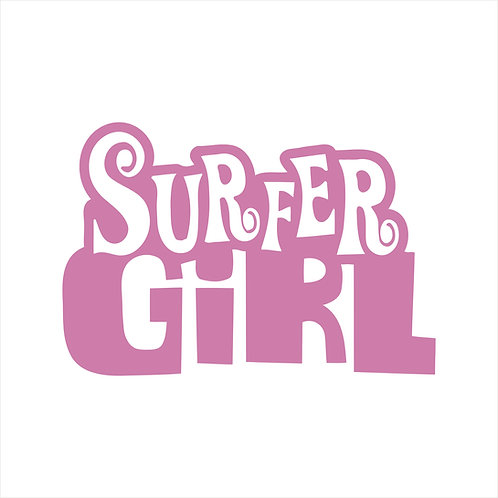 Surfer Girl Endless Summer Surf Surfing Surfer Surfboard Decal Window Sticker