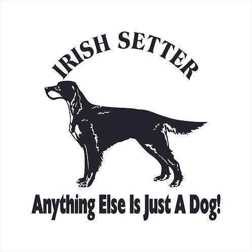 Irish Setter Dog Vinyl Decal Window Sticker