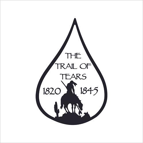Native American Trail of Tears American Indian Design Vinyl Decal Window Sticker
