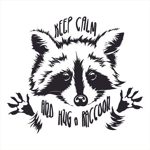 Keep Calm Hug A Raccoon Calm Raccoon Vinyl Decal Window Sticker