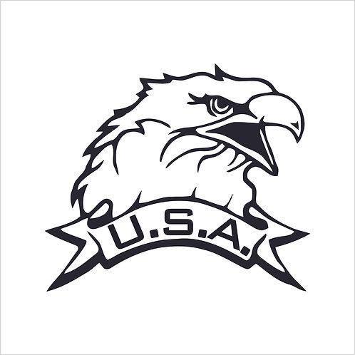 USA Eagle Vinyl Decal Vinyl Sticker Decal Window Sticker