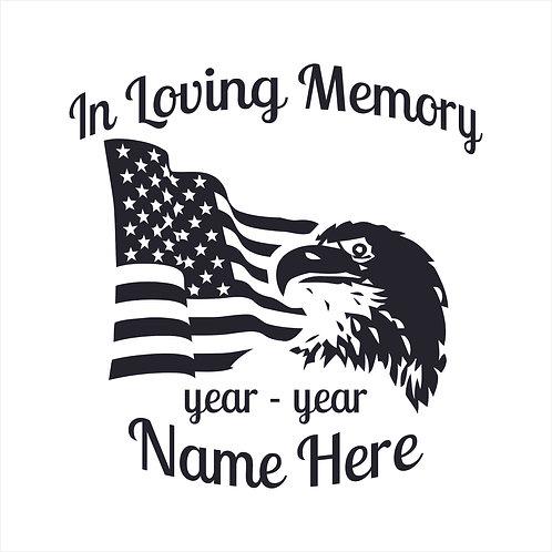Memorial Decals Eagle Flag Patriotic Memorial Decal Window Sticker