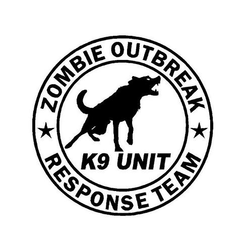 Zombie Dog K9 Response Decal Window Sticker