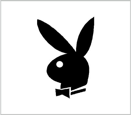 Playboy Bunny Decal Window Sticker