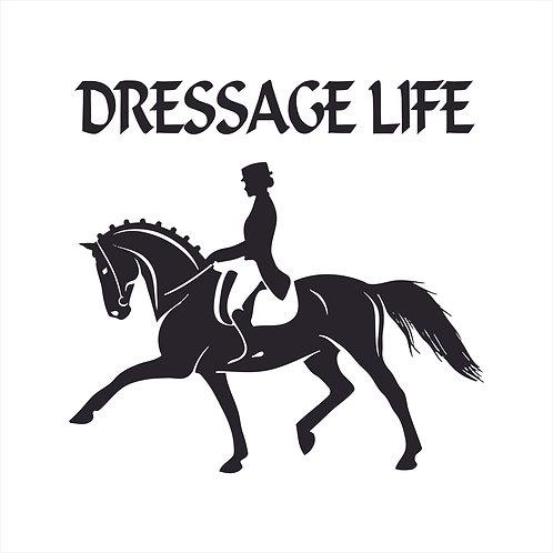 Decal Dressage Life Horse Vinyl Decal  Window Sticker