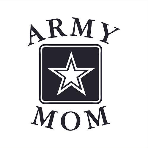 Army Mom Vinyl Decal Window Sticker