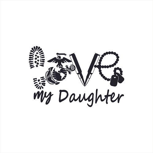 Marine Mom US Marine Corps Mom Daughter Marine Corps Decal Window Sticker